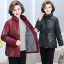 Middle aged and old women's wear Winter 2020, autumn 2020 Black, red XL [90-105 kg recommended], 2XL [105-120 kg recommended], 3XL [120-135 kg recommended], 4XL [135-150 kg recommended], 5XL [150-165 kg recommended] fashion Cotton Self cultivation singleton  Decor 40-49 years old Cardigan thickening