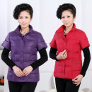 Middle aged and old women's wear Autumn 2017, winter 2017 Purple, black, Navy, red, coffee, dark red 4XL [recommended 155 kg], XL [recommended 90-105 kg], 5XL [recommended 150-165 kg], 3XL [recommended 120-135 kg], 2XL [recommended 105-120 kg] leisure time Vest Self cultivation singleton  other thick