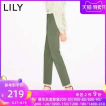 Casual pants 322 grey green 150/58A/XS 170/74A/XL 165/70A/L 160/66A/M 155/62A/S Summer 2020 Ninth pants Pencil pants High waist commute routine 25-29 years old 31% (inclusive) - 50% (inclusive) 120210C5164322 Lily / Lily polyester fiber Ol style zipper