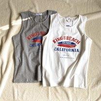 Vest sling Summer 2020 White, gray M, L singleton  routine easy other 81% (inclusive) - 90% (inclusive) cotton