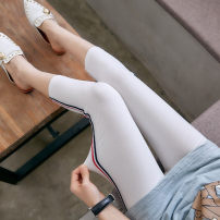 Leggings Summer of 2019 White, light grey, black Thin money Capris / Capris 18-24 years old 91% (inclusive) - 95% (inclusive)