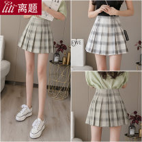 skirt Spring 2020 S M L XL XXL Black and white, gray and green Short skirt Sweet High waist Pleated skirt lattice Type A 18-24 years old LT-D5138 51% (inclusive) - 70% (inclusive) Chiffon Digression polyester fiber Ruffle zipper Pure e-commerce (online only) college