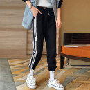 Casual pants black S,M,L Spring 2021 Ninth pants Haren pants High waist street routine 25-29 years old 91% (inclusive) - 95% (inclusive) WYXZ0313B01 other pocket Europe and America