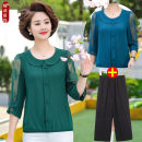 T-shirt Summer 2020 three quarter sleeve Doll Collar easy Regular routine commute other 71% (inclusive) - 85% (inclusive) 30-39 years old Korean version other Solid color Other / other Lace
