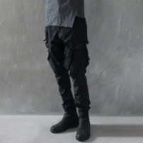 Casual pants Others Fashion City black XL,L,S,M routine trousers Other leisure Self cultivation No bullet Four seasons teenagers Military brigade of tooling 2021 Medium low back Little feet Cotton 100% Overalls Pocket decoration No iron treatment other plain cloth cotton cotton Original designer