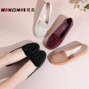 Low top shoes 35,36,37,38,39,40,41,42,43 Wangnai Round head Top leather Flat bottom Flat heel (1cm or less) Shallow mouth PU Summer 2020 Trochanter leisure time Adhesive shoes Middle aged (40-60 years old), elderly (over 60 years old) Solid color TPR (tendon) Single shoes Shallow mouth, water drill