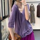 shirt Purple, apricot, yellow, pink, green, caramel Average size Summer 2020 hemp 71% (inclusive) - 80% (inclusive) three quarter sleeve commute Regular V-neck other routine Solid color literature LZ8525 hemp