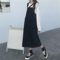 Dress Spring 2021 navy blue S,M,L,XL Mid length dress singleton  Sleeveless commute other Loose waist Solid color Socket other routine straps 18-24 years old Type H Other / other Korean version 31% (inclusive) - 50% (inclusive) other other