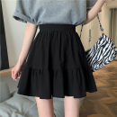 skirt Summer 2021 Average size White, black Short skirt commute High waist Umbrella skirt Solid color Type A 18-24 years old 31% (inclusive) - 50% (inclusive) other Other / other other Korean version