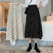 skirt Spring 2021 Average size White, black Mid length dress commute High waist A-line skirt Decor Type A 18-24 years old 31% (inclusive) - 50% (inclusive) Other / other Korean version