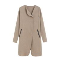 Wool knitwear Autumn 2020 M,L,XL Blue, black, khaki Long sleeves singleton  Cardigan other 30% and below Medium length commute routine Solid color zipper Korean version pocket