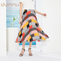 skirt Summer 2020 S M L XL XXL orange red Mid length dress Versatile Natural waist Pleated skirt Abstract pattern 30-34 years old EP220503-179074 More than 95% Dunno polyester fiber Polyester 100% Same model in shopping mall (sold online and offline)