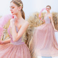 Dress / evening wear Wedding, adulthood, party, company annual meeting, performance, routine, appointment XXL,XXXL,XS,S,M,L,XL Pink sexy longuette middle-waisted Autumn 2020 Self cultivation Chest type Bandage Netting 18-25 years old Sleeveless Angel wedding dress 96% and above