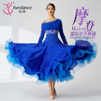 Modern dance suit (including performance clothes) Yundance Waltz Tango Foxtrot female Picture color customized 15 days delivery custom color, size, please consult the designer customer service, this baby is customized, no stock. Please let the customer service know the specific size Average size