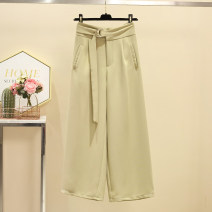 Women's large Summer 2021 khaki Large L, large XL, 2XL, 3XL, 4XL trousers singleton  commute easy Solid color Korean version Three dimensional cutting Beauty trends 25-29 years old belt 96% and above trousers