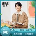 Jacket Semir / SEMA Youth fashion routine easy Other leisure autumn Cotton 100% Long sleeves Wear out Lapel Youthful vigor teenagers routine Single breasted Rib hem Closing sleeve other Cloth decoration (covering other fabrics) Side seam pocket cotton More than 95%