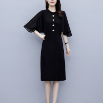 Middle aged and old women's wear Summer 2021 Picture color [super fairy dress, super fairy sweet] L (recommended 100-115 kg), XL (recommended 115-130 kg), 2XL (recommended 130-145 kg), 3XL (recommended 145-160 kg), 4XL (recommended 160-180 kg), 5XL (recommended 180-200 kg) commute singleton  other