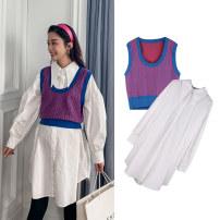 suit happymaman Shirt + vest, shirt, vest Average size Korean version other spring and autumn routine