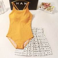 one piece  Others M,L,XL Triangle one piece swimsuit With chest pad without steel support female Long sleeves Casual swimsuit
