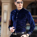 shirt Fashion City Others routine Pointed collar (regular) Long sleeves Self cultivation daily spring middle age Polyester 100% Business Casual Solid color Color woven fabric No iron treatment cotton Easy to wear
