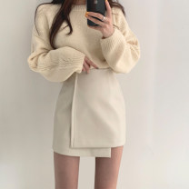 skirt Autumn 2020 S,M,L Apricot, pink Short skirt commute High waist Irregular Solid color Type A 25-29 years old 81% (inclusive) - 90% (inclusive) other PU Asymmetric, zipper Korean version 401g / m ^ 2 (inclusive) - 500g / m ^ 2 (inclusive)