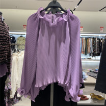 shirt violet XS,S,M,L Spring 2020 other 81% (inclusive) - 90% (inclusive) Long sleeves Versatile Regular stand collar Socket routine Solid color 25-29 years old URBFHM