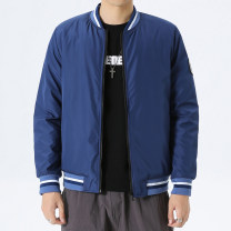 Jacket Other / other Youth fashion M,L,XL,2XL,3XL,4XL,5XL routine standard Other leisure autumn T30 Polyester 100% Long sleeves Wear out Baseball collar tide youth routine Zipper placket 2020 Rib hem No iron treatment Closing sleeve Solid color Rib bottom pendulum Three dimensional bag More than 95%