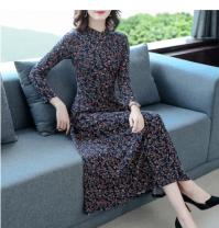 Dress Autumn of 2019 Red, blue M,L,XL,2XL,3XL,4XL,5XL Other / other