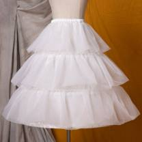 skirt Winter of 2019 Average size White, black Mid length dress Sweet High waist Princess Dress Solid color Type A 18-24 years old Q-02 51% (inclusive) - 70% (inclusive) other Eieyomi polyester fiber 61G / m ^ 2 (including) - 80g / m ^ 2 (including) Lolita
