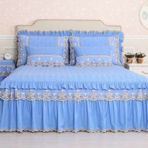 Bed skirt 150cmx200cm,180cmx200cm,200cmx200cm cotton Grey single bed skirt, grey bed skirt + Lace pillow case, grey bed skirt + Lace pillow case, blue single bed skirt, blue bed skirt + Lace pillow case, blue bed skirt + Lace pillow case Other / other Solid color Qualified products