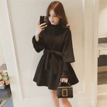 Dress Autumn of 2018 No lace in khaki, no lace in black, no lace in caramel, random lucky bag S,M,L,XL Other / other
