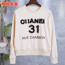 Sweater / sweater Spring 2021 Apricot S,M,L Long sleeves routine Socket singleton  routine Crew neck easy street routine letter 18-24 years old cotton printing cotton Cotton liner Europe and America