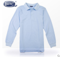 T-shirt Light blue navy Longstreet / Lanshi 110cm 120cm 130cm 140cm 150cm 160cm 165cm 170cm 175cm 180cm 190cm male Long sleeves Lapel and pointed collar college Pure cotton (100% cotton content) Solid color Cotton 100% T-500-B