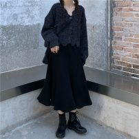 skirt Winter 2020 Average size Mid length dress commute High waist Type A 18-24 years old 018 019 More than 95% Other / other Korean version