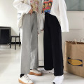 Casual pants Gray, black Average size Spring 2020 trousers High waist Versatile routine 18-24 years old Other / other
