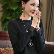 sweater Autumn of 2019 S M L XL XXL XXXL Long sleeves Socket singleton  Regular Viscose 71% (inclusive) - 80% (inclusive) stand collar Regular commute routine Solid color Straight cylinder Regular wool Keep warm and warm 35-39 years old Shanfei Lisa Splicing Viscose Pure e-commerce (online only)