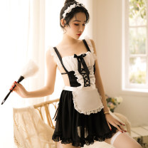 Nightdress Magnificent Attractive Maid Dress 178, attractive Maid Dress 178 + stockings Average size (80-110kg) sexy camisole pajamas UltraShort  summer Solid color youth square neck Polyester (polyester) lace 81% (inclusive) - 95% (inclusive) other 178# 200g and below