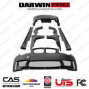 Surrounded by cars BMW / BMW 1M Automobile modified parts carbon fibre wide enlargement Side skirt, front leaf board, rear eyebrow Support installation Front bar + rear bar