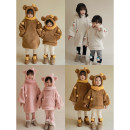 Sweater / sweater Yoehaul / youyou Off white d1382, coffee d1382, pink d1382, off white d1383, caramel d1383, skin pink d1383 female 80cm,90cm,100cm,110cm,120cm winter No detachable cap leisure time Socket Plush There are models in the real shooting Cotton blended fabric Solid color Other 100%