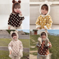 Sweater / sweater Yoehaul / youyou female 73cm,80cm,90cm,100cm,110cm,120cm,130cm winter nothing leisure time Socket thickening There are models in the real shooting Cotton blended fabric Dot Other 100% D1430  6241