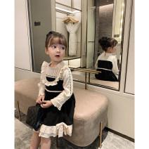 Dress black female Yoehaul / youyou 73cm,80cm,90cm,100cm,110cm,120cm,130cm Other 100% spring and autumn solar system Long sleeves other other other 12 months, 9 months, 18 months, 2 years old, 3 years old, 4 years old, 5 years old, 6 years old Chinese Mainland Zhejiang Province Huzhou City
