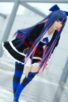 Cosplay women's wear suit Customized Over 14 years old Dress + headdress + socks, fake wool comic 50. M, s, XL, customized Japan Panty & Stocking  Urgent, 10 days