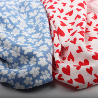 Fabric / fabric / handmade DIY fabric cotton The price of blue flower is one meter, and that of red heart is one meter Plants and flowers clothing Japan and South Korea 91% (inclusive) - 100% (exclusive)