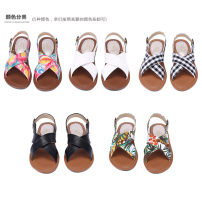 Sandals 36 37 38 39 Black and white plaid green calico red calico white black Other / other cloth Barefoot Flat bottom Flat heel (1cm or less) Spring of 2018 Flat buckle solar system Solid color Adhesive shoes Youth (18-40 years old) middle age (40-60 years old) TPR (tendon) daily Rear trip strap PU