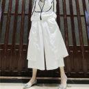 Casual pants White, black M,L,XL Spring of 2019 Ninth pants Wide leg pants Natural waist Thin money