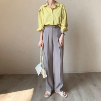 Casual pants S,M,L Summer 2021 trousers Straight pants