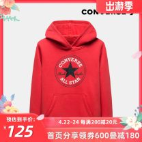 Sweater / sweater Converse / converse Rock Ridge grey, Tango red male 110/4Y,110/5Y,120/6Y,130/7Y,140/S,150/M,160/L,160/XL spring and autumn No detachable cap leisure time Socket routine other Cotton 67.00% polyester 33.00% CV932240PS-002