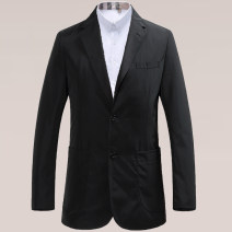 man 's suit Black, Navy Fashion City thin 46,48,50,52,54,56 New polyester fiber 100% standard Double breasted Other leisure Back middle slit youth Long sleeves Four seasons Medium length Simplicity in Europe and America Casual clothes Flat lapel Round hem Solid color 2018 Three dimensional bag