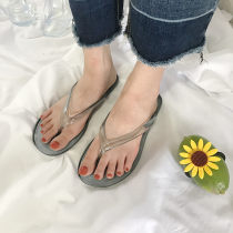 slipper Tip - 2 yards smaller! 36 37 38 39 40 41 Other / other Transparent grey transparent Flat bottom Flat heel (1cm or less) plastic cement Summer 2017 One line daily Simplicity Solid color