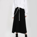 skirt Winter of 2019 M, L black Mid length dress Versatile Natural waist Suit skirt Solid color Type H 18-24 years old 51% (inclusive) - 70% (inclusive) other Other / other cotton